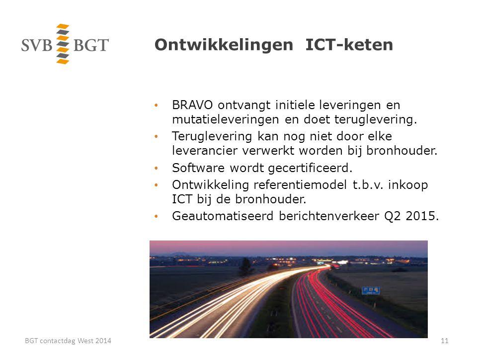 Ontwikkelingen ICT-keten BRAVO ontvangt initiele leveringen en mutatieleveringen en doet teruglevering.