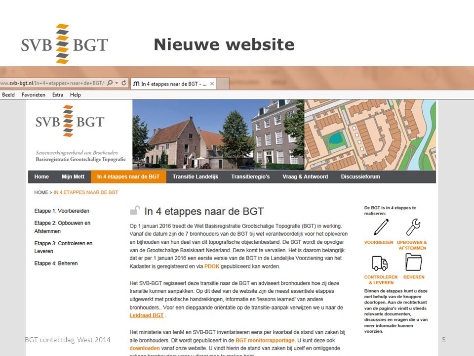 Nieuwe website BGT contactdag West 20145