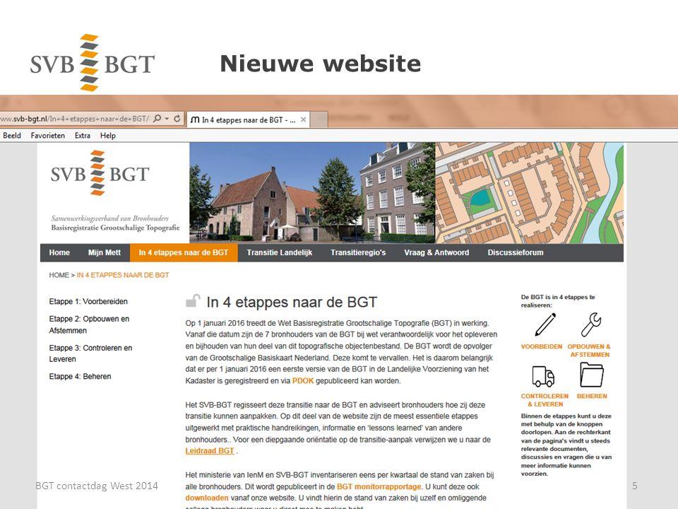 Nieuwe website BGT contactdag West 20145