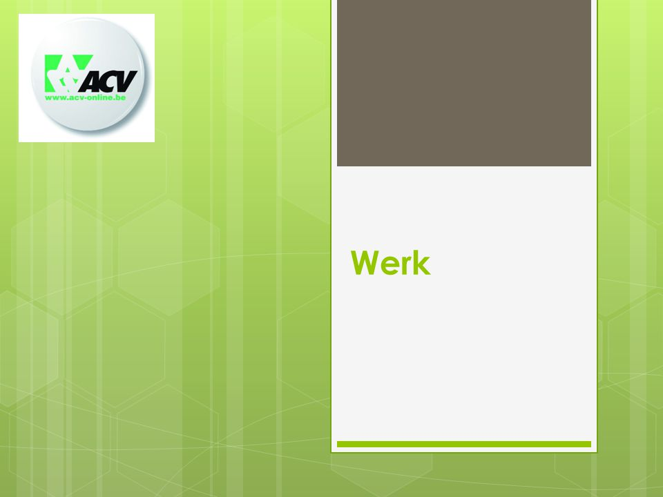 Vormings-en opleidingsbeleid  Arbeidsmarkt- en loopbaangericht  Leren via werken: inzet op stages, werkplekleren en praktijkgerichte opleidingen  Opleidingsincentives WG en WN strategischer afstemmen  KMO-portefeuille, STS, ESF-opleidingen maatgerichter en gericht op win-win WG-WN  Opleidingscheques, BEV en opleidingskrediet integreren in 1 instrument (voor tijd, geld of combinatie) Werk