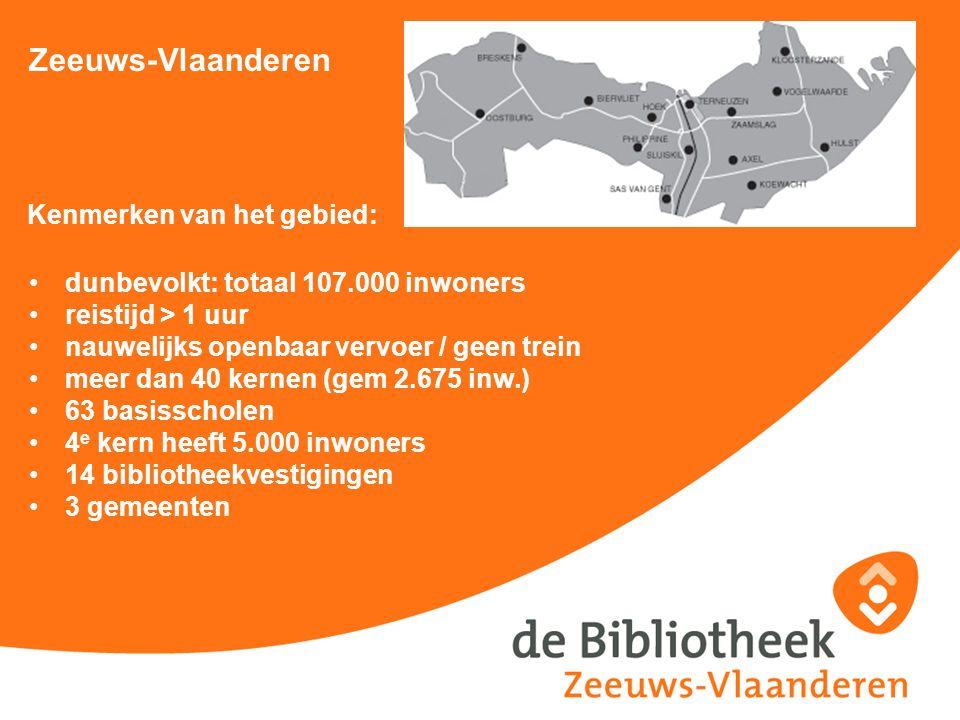 Zeeuws-Vlaanderen Kenmerken van het gebied: dunbevolkt: totaal 107.000 inwoners reistijd > 1 uur nauwelijks openbaar vervoer / geen trein meer dan 40