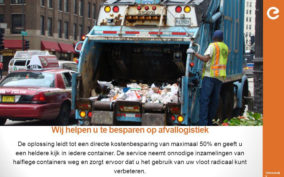 Vertrouwelij k Introductie van Slimme Plannen Tot nu toe werd afval via statische routes ingezameld.