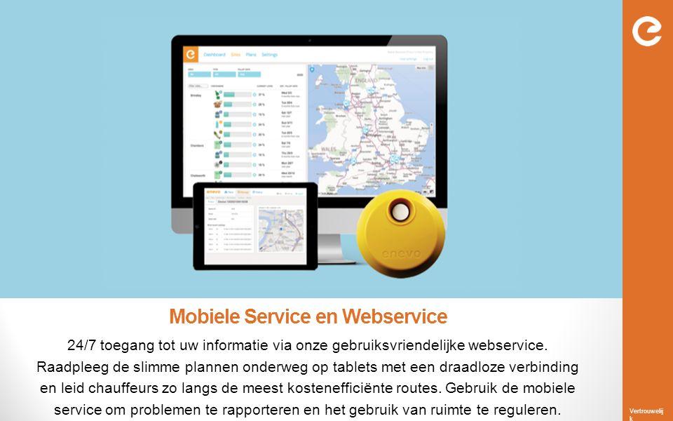 Vertrouwelij k Mobiele Service en Webservice 24/7 toegang tot uw informatie via onze gebruiksvriendelijke webservice. Raadpleeg de slimme plannen onde