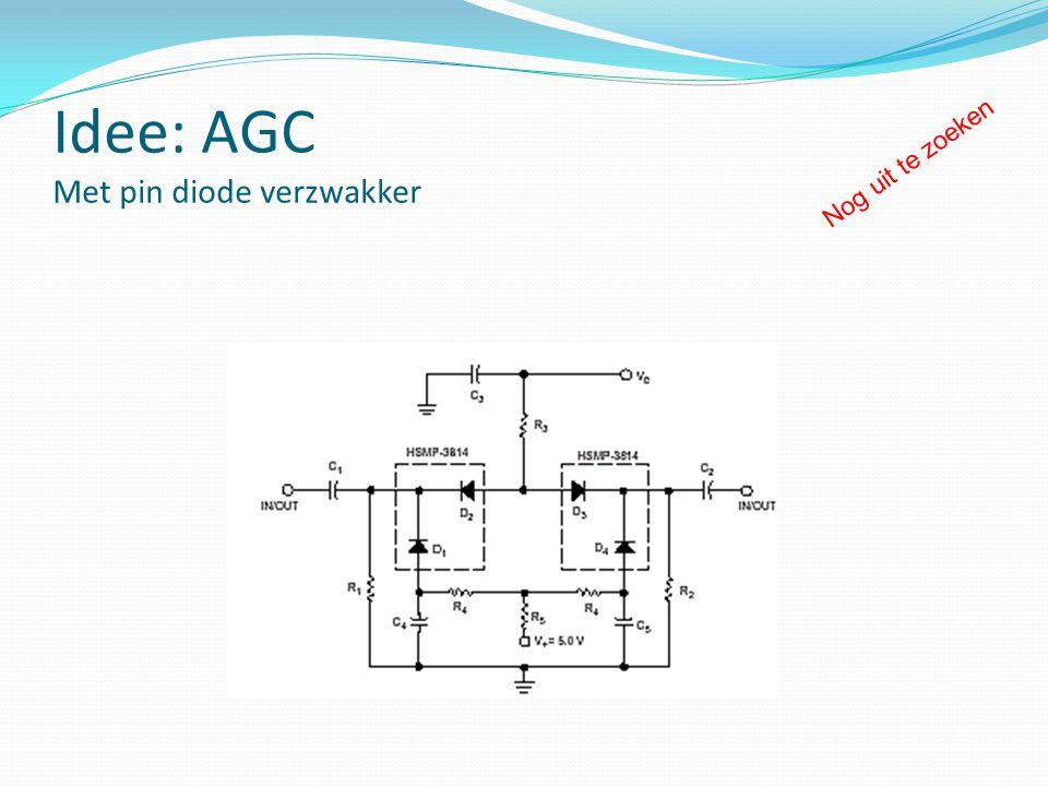 Idee: AGC Met pin diode verzwakker Nog uit te zoeken