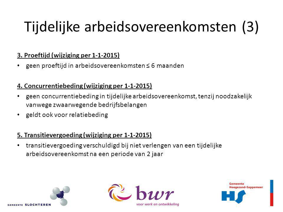 Tijdelijke arbeidsovereenkomsten (3) 3.