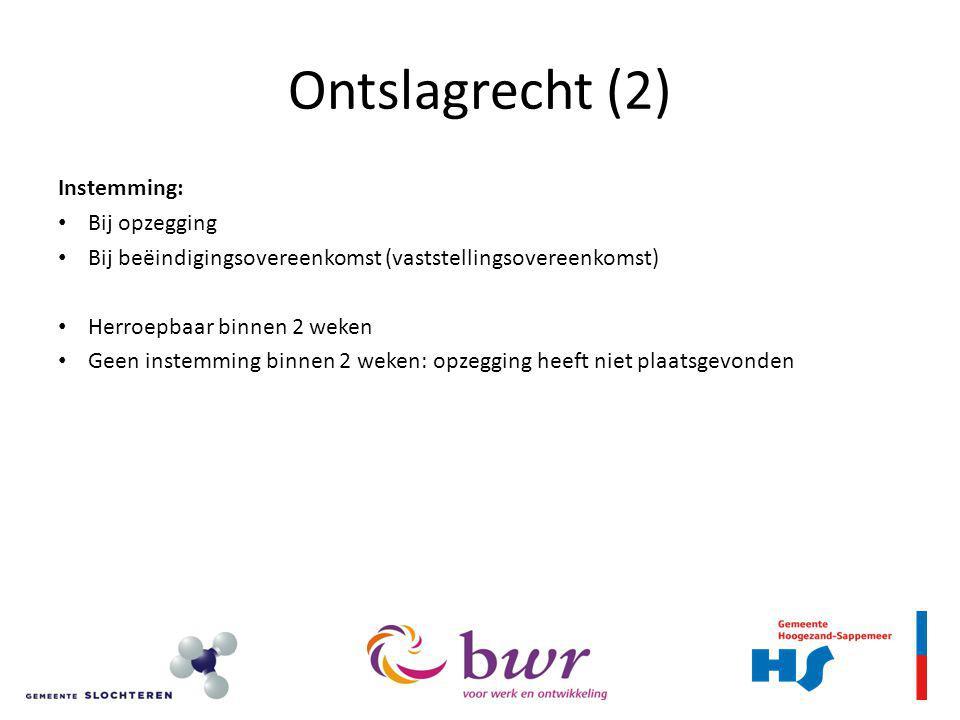 Ontslagrecht (3) Ontslag Economisch Langdurig ziek Persoonlijk UWV Geen vergoeding alleen i.g.v.
