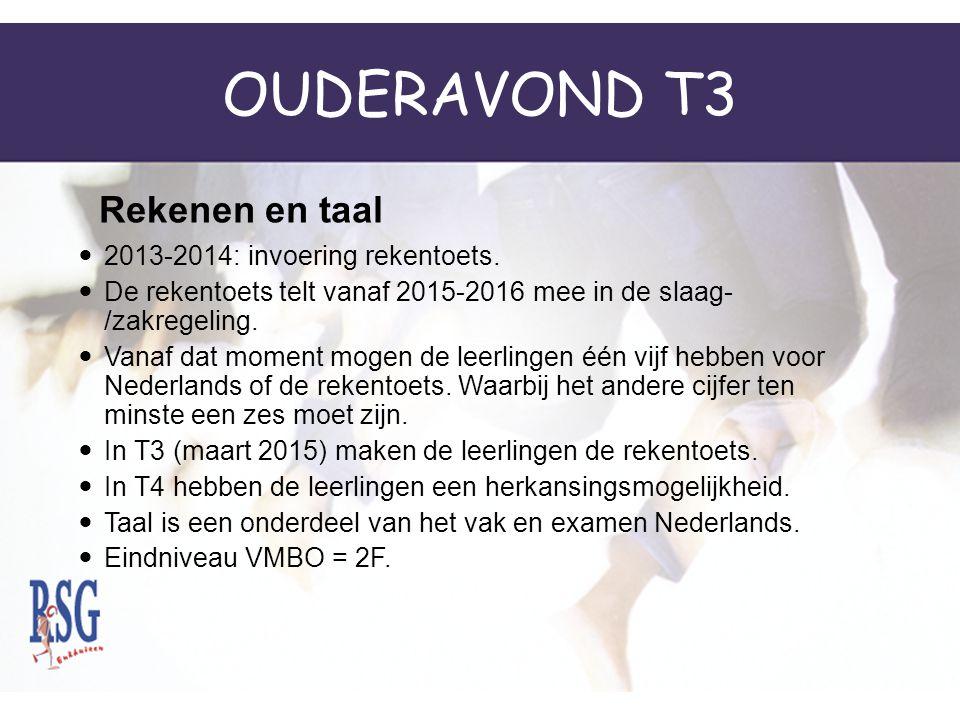 OUDERAVOND T3 2013-2014: invoering rekentoets.