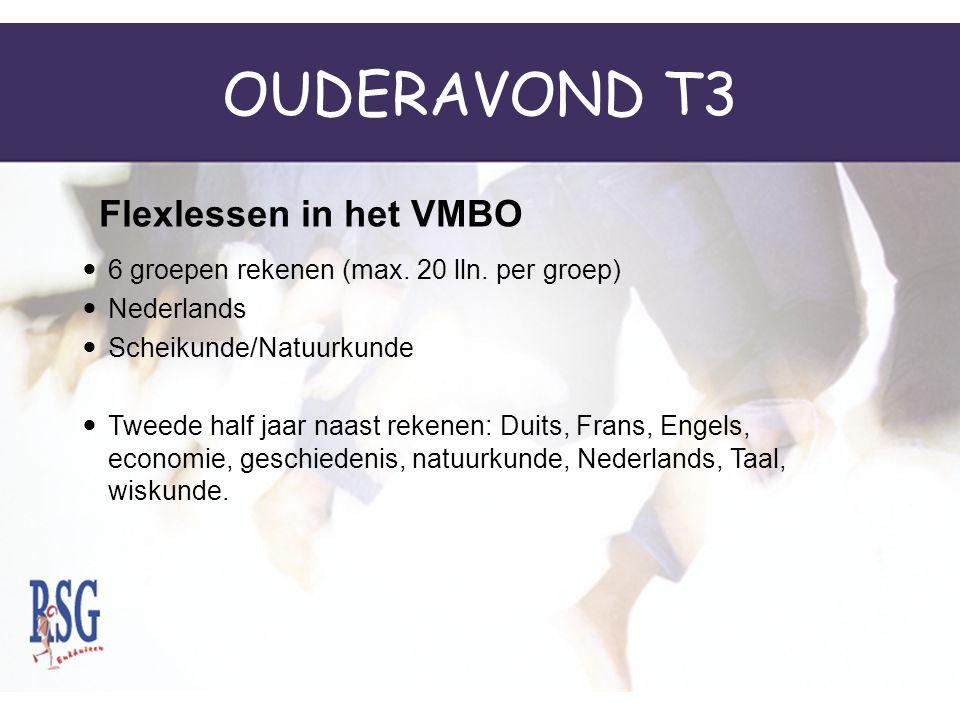 OUDERAVOND T3 6 groepen rekenen (max.20 lln.