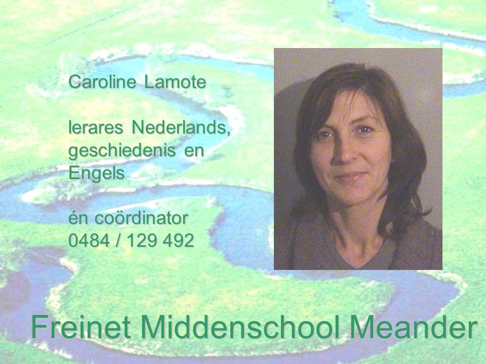 Freinet Middenschool Meander Emilie Halluin leraresFrans