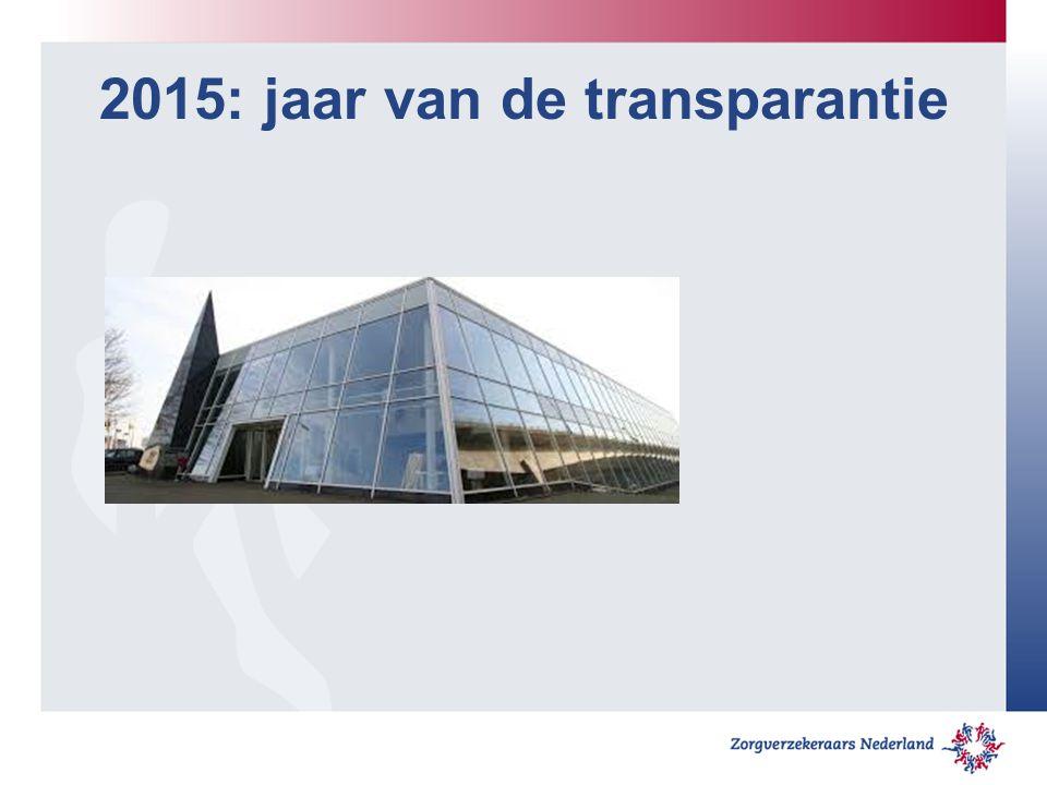 2015: jaar van de transparantie