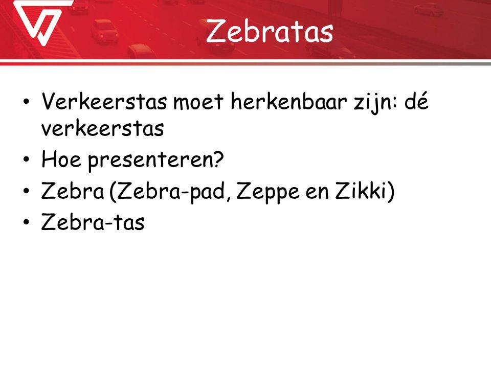 Zebratas Verkeerstas moet herkenbaar zijn: dé verkeerstas Hoe presenteren.