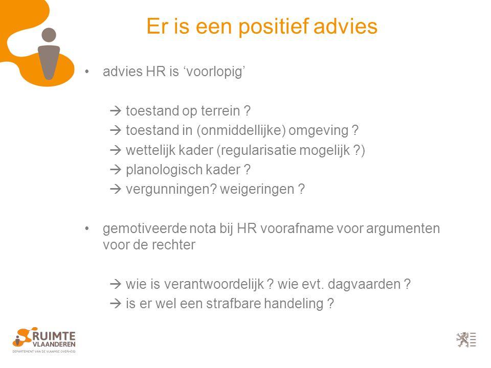 advies HR is 'voorlopig'  toestand op terrein .  toestand in (onmiddellijke) omgeving .
