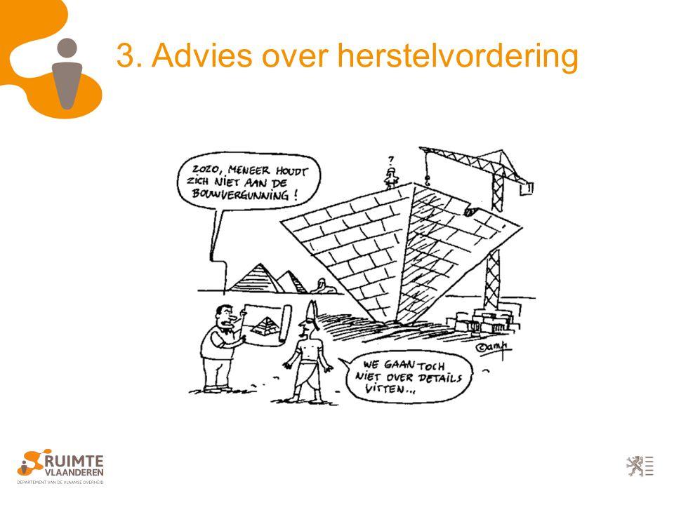 3. Advies over herstelvordering