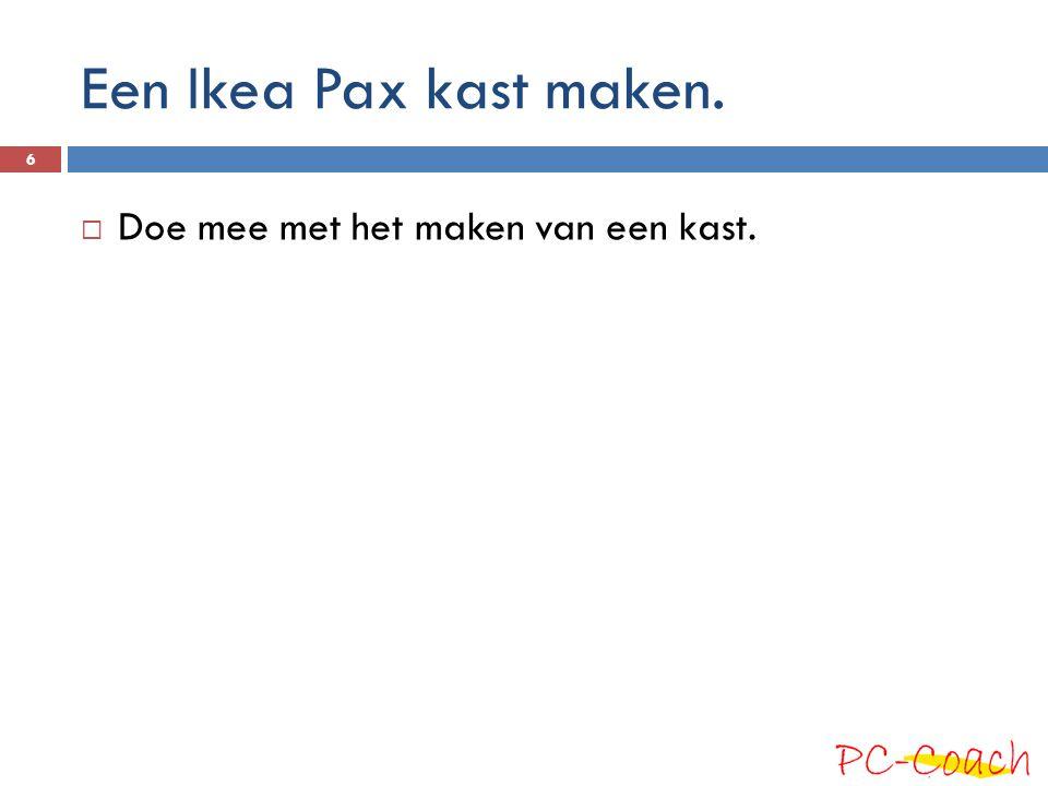 Een Ikea Pax kast maken.  Doe mee met het maken van een kast. 6