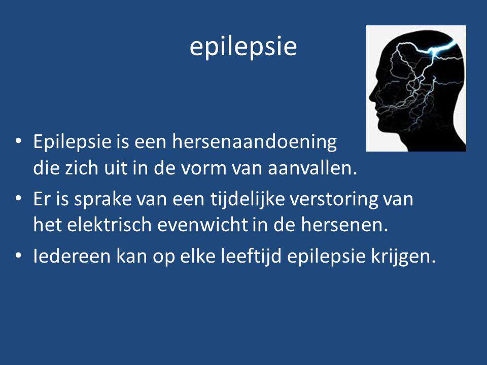 epilepsie Epilepsie is een hersenaandoening die zich uit in de vorm van aanvallen. Er is sprake van een tijdelijke verstoring van het elektrisch evenw