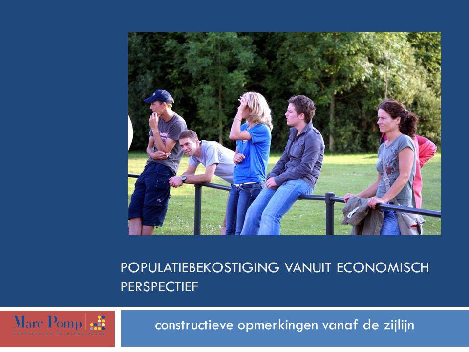 POPULATIEBEKOSTIGING VANUIT ECONOMISCH PERSPECTIEF constructieve opmerkingen vanaf de zijlijn