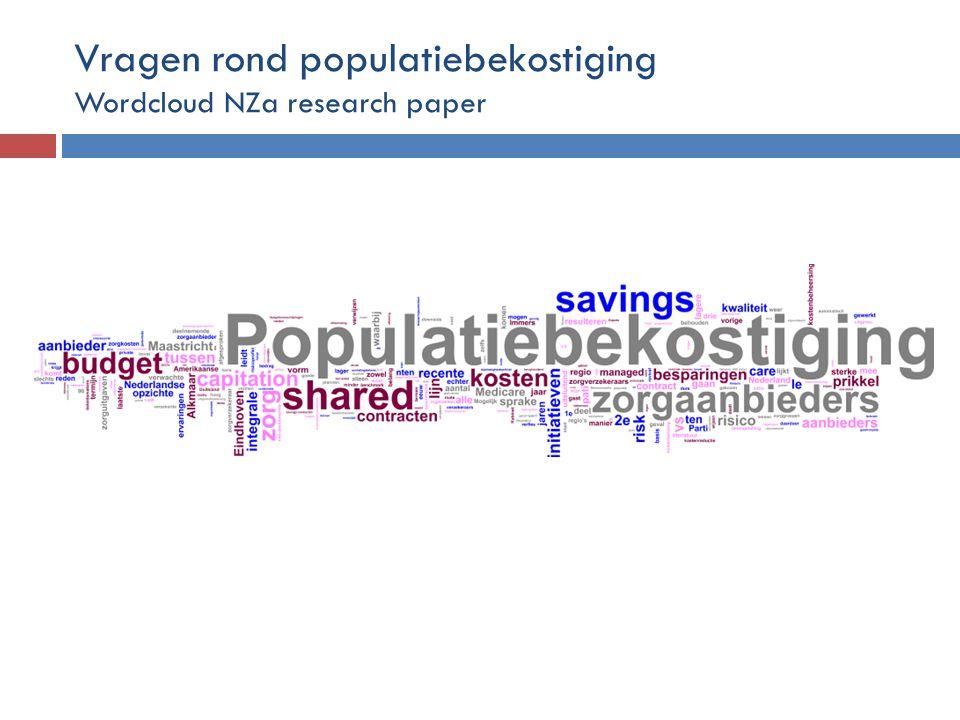 Vragen rond populatiebekostiging Wordcloud NZa research paper