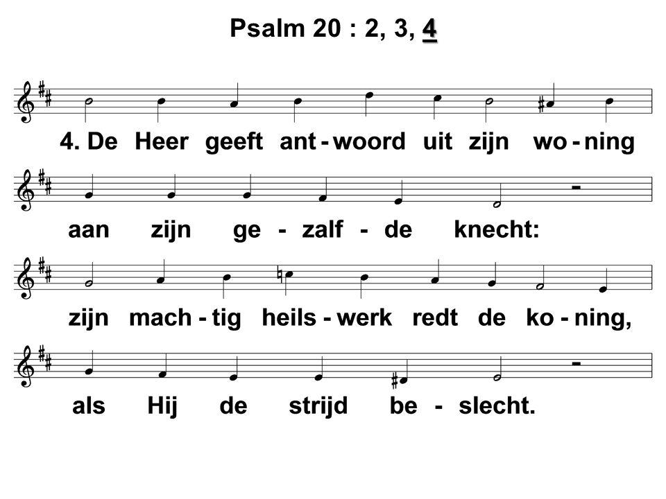 4 Psalm 20 : 2, 3, 4