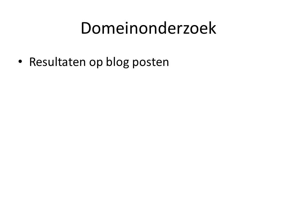 Domeinonderzoek Resultaten op blog posten
