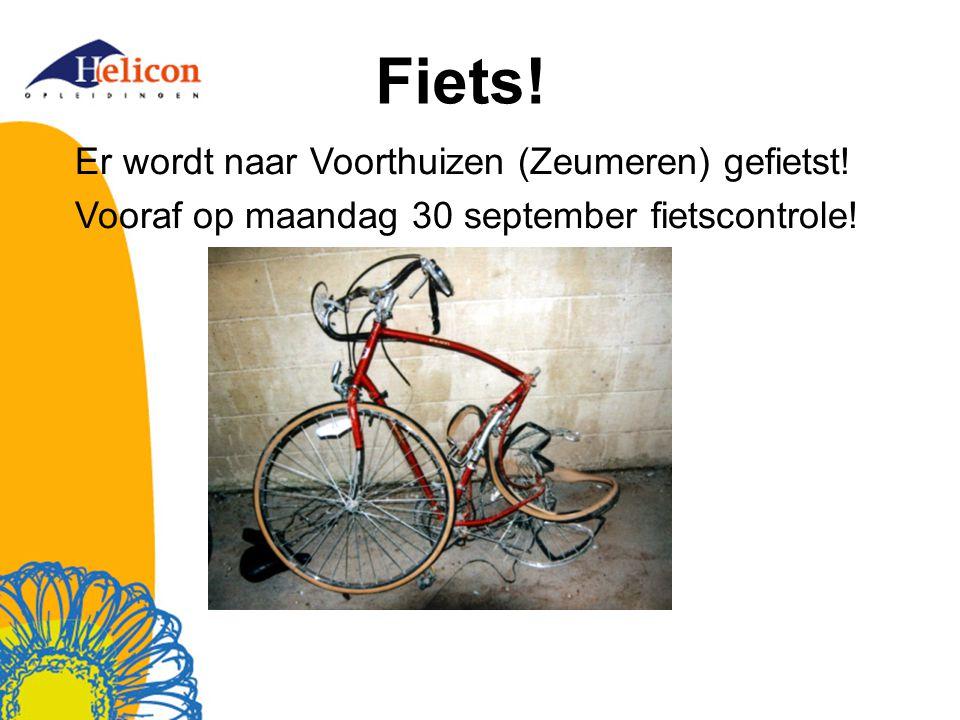 Fiets! Er wordt naar Voorthuizen (Zeumeren) gefietst! Vooraf op maandag 30 september fietscontrole!