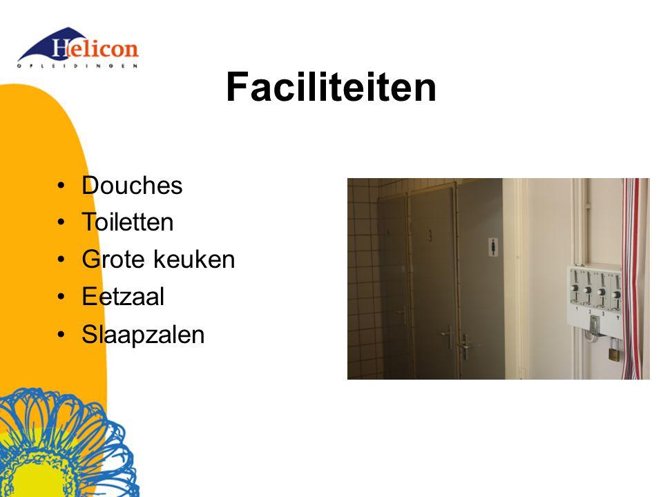 Faciliteiten Douches Toiletten Grote keuken Eetzaal Slaapzalen