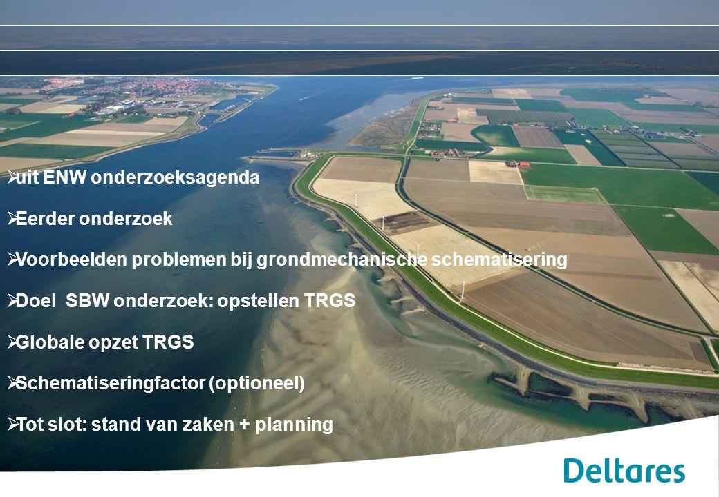 """10/01/2015RIMAX Workshop """"Probabilistische Bemessung von Dämmen und Deichen für den Hochwasserschutz"""" 2  uit ENW onderzoeksagenda  Eerder onderzoek"""