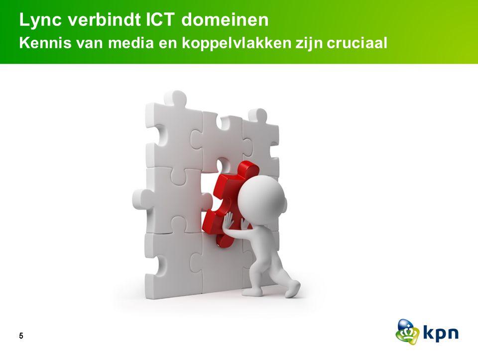 Lync verbindt ICT domeinen Kennis van media en koppelvlakken zijn cruciaal 5
