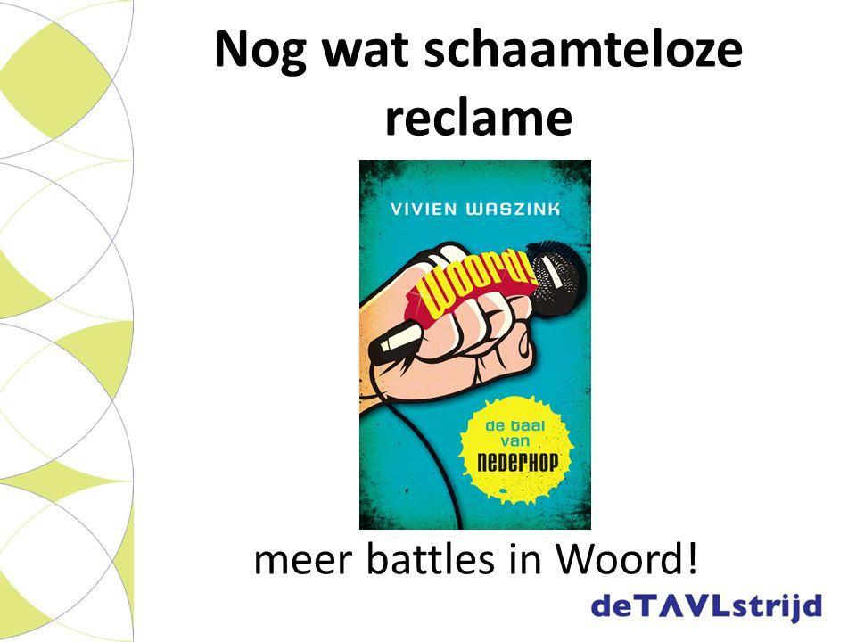 Nog wat schaamteloze reclame meer battles in Woord!