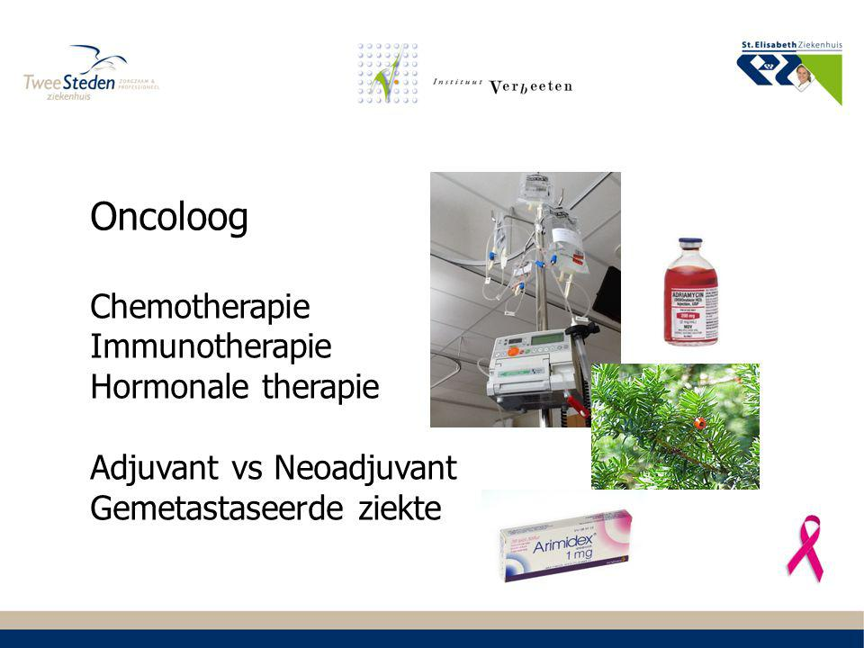 Oncoloog Chemotherapie Immunotherapie Hormonale therapie Adjuvant vs Neoadjuvant Gemetastaseerde ziekte