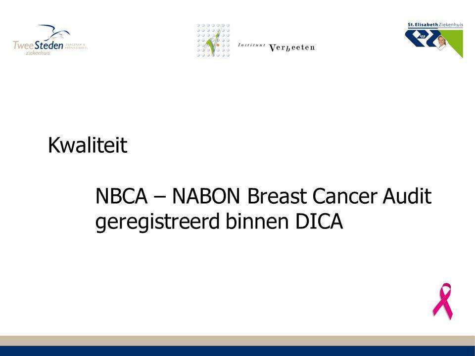 NBCA – NABON Breast Cancer Audit geregistreerd binnen DICA