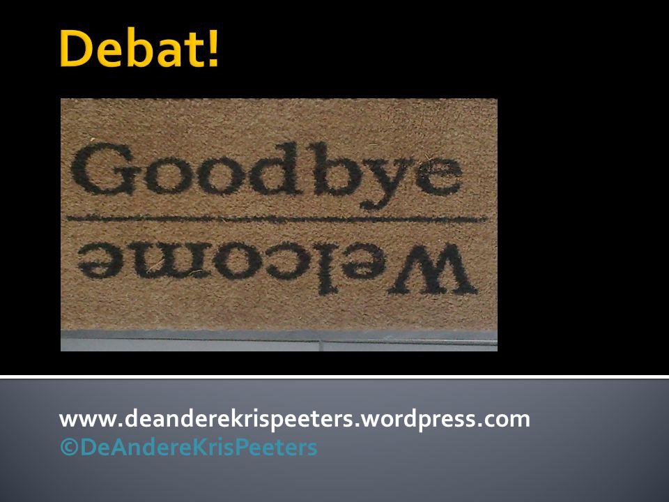 www.deanderekrispeeters.wordpress.com ©DeAndereKrisPeeters