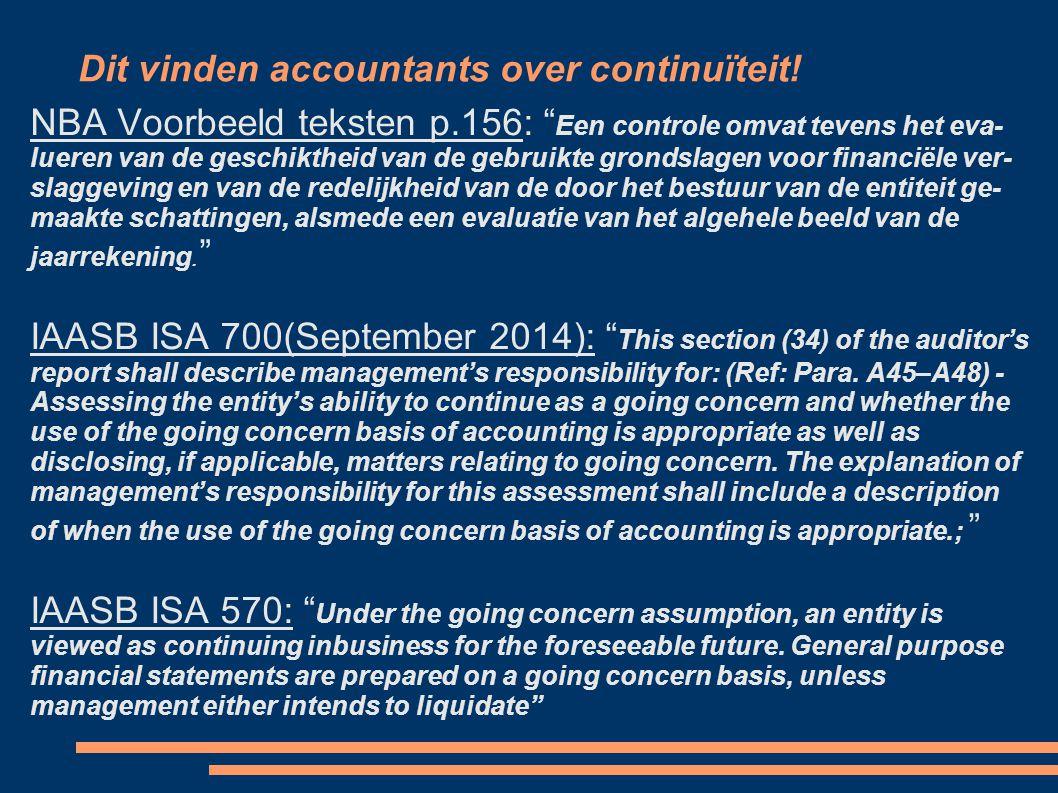 Dit vinden accountants over continuïteit.