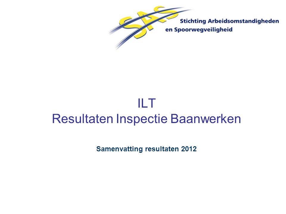 ILT Resultaten Inspectie Baanwerken Samenvatting resultaten 2012