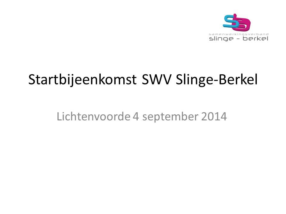 Startbijeenkomst SWV Slinge-Berkel Lichtenvoorde 4 september 2014