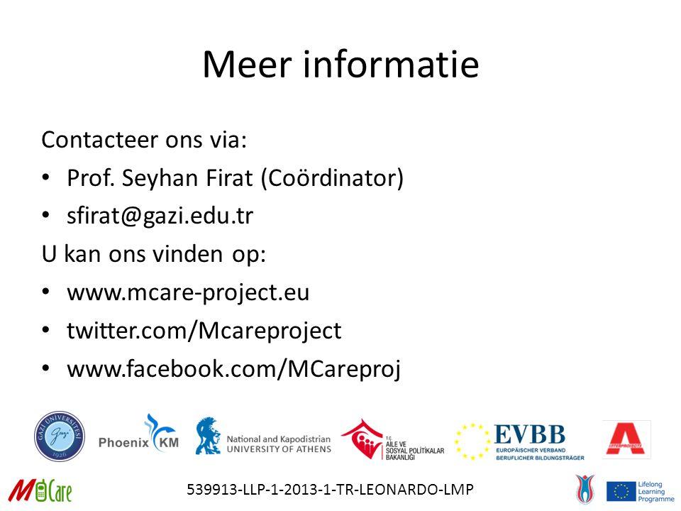 539913-LLP-1-2013-1-TR-LEONARDO-LMP Meer informatie Contacteer ons via: Prof.