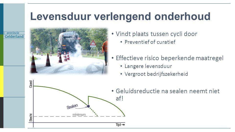 Levensduur verlengend onderhoud Vindt plaats tussen cycli door Preventief of curatief Effectieve risico beperkende maatregel Langere levensduur Vergro