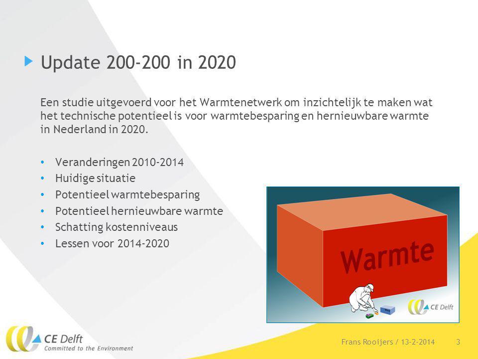 3 Update 200-200 in 2020 Een studie uitgevoerd voor het Warmtenetwerk om inzichtelijk te maken wat het technische potentieel is voor warmtebesparing e