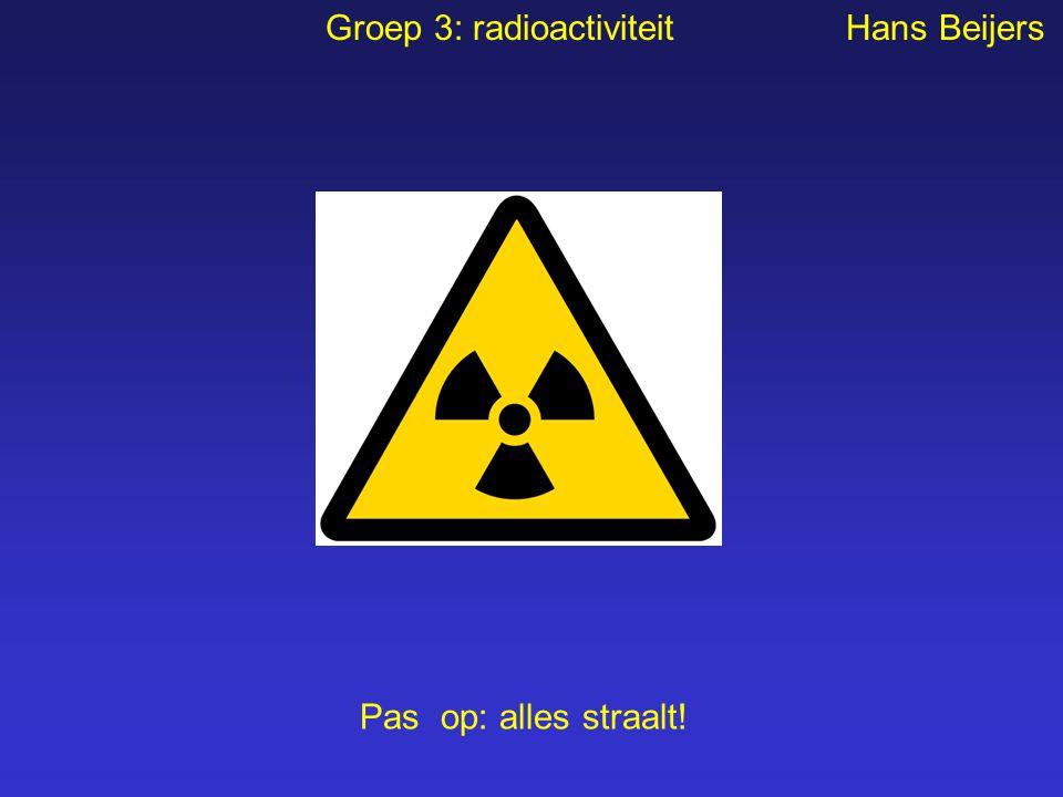 Groep 3: radioactiviteit Hans Beijers Pas op: alles straalt!
