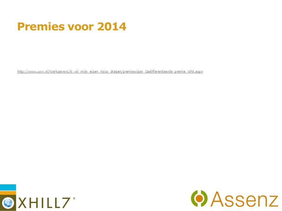 Premies voor 2014 http://www.uwv.nl/Werkgevers/ik_wil_mijn_eigen_risico_dragen/premiewijzer_Gedifferentieerde_premie_Whk.aspx 6