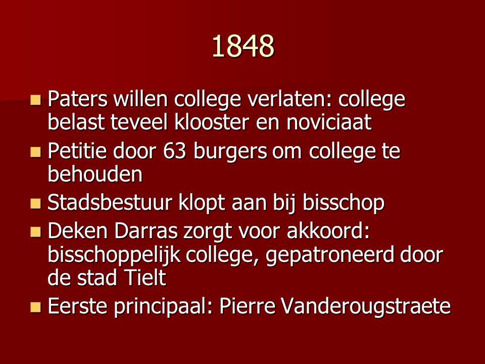 1848 Paters willen college verlaten: college belast teveel klooster en noviciaat Paters willen college verlaten: college belast teveel klooster en nov