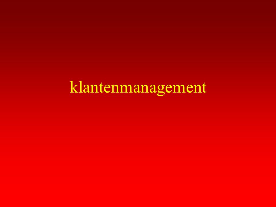 klantenmanagement