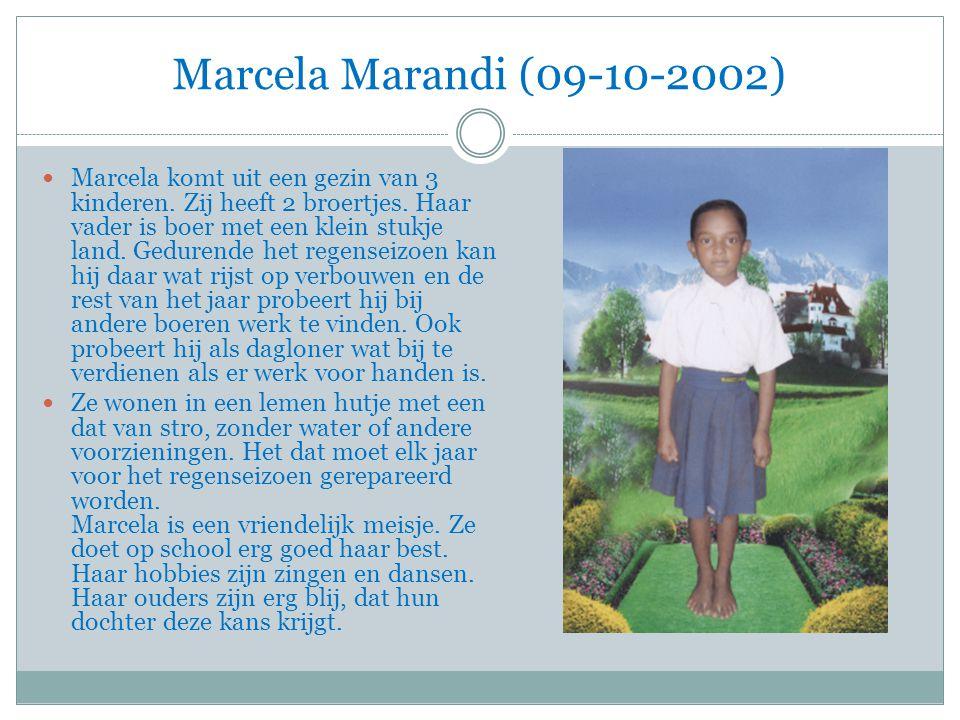 Marcela Marandi (09-10-2002) Marcela komt uit een gezin van 3 kinderen.
