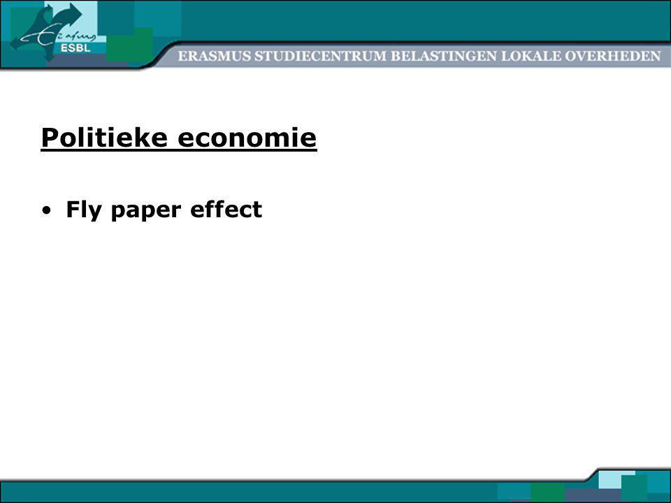 19 Politieke economie Fly paper effect