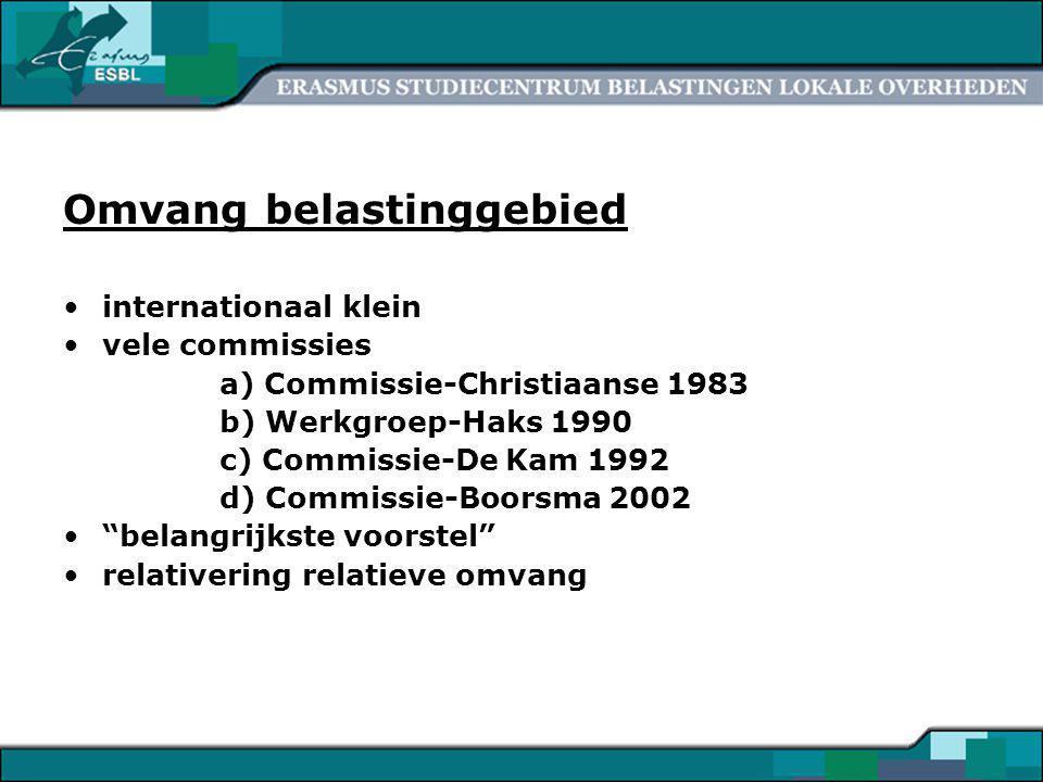 5 Argumenten pro verruiming I.Vergroting autonomie Lotz over Scandinavische landen Allers: Rijksinvloed VNG: misverstand 1 Belastingopbrengst afhankelijk van: - Volumetoename - Tarief