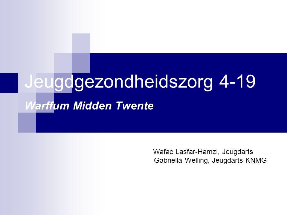 Jeugdgezondheidszorg 4-19 Warffum Midden Twente Wafae Lasfar-Hamzi, Jeugdarts Gabriella Welling, Jeugdarts KNMG