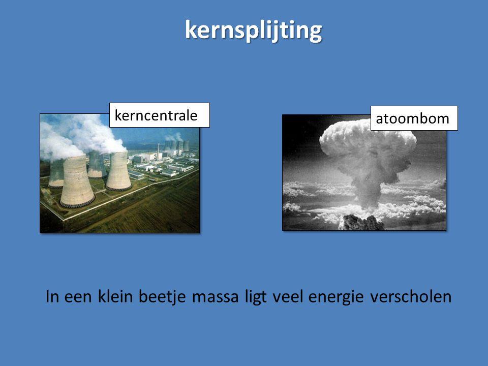 kernsplijting kerncentrale atoombom In een klein beetje massa ligt veel energie verscholen