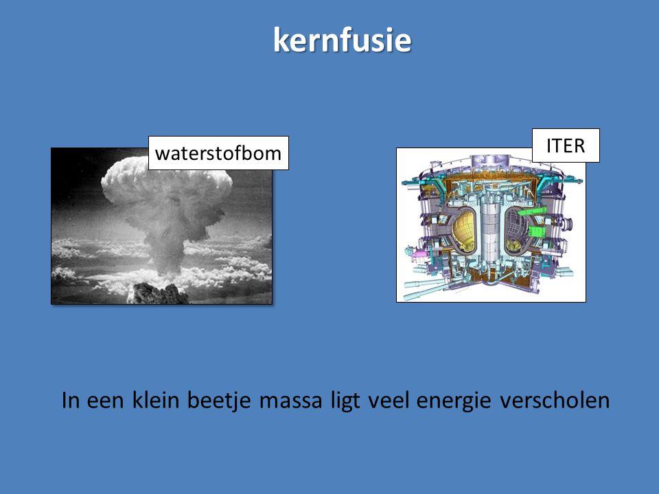 kernfusie waterstofbom In een klein beetje massa ligt veel energie verscholen ITER