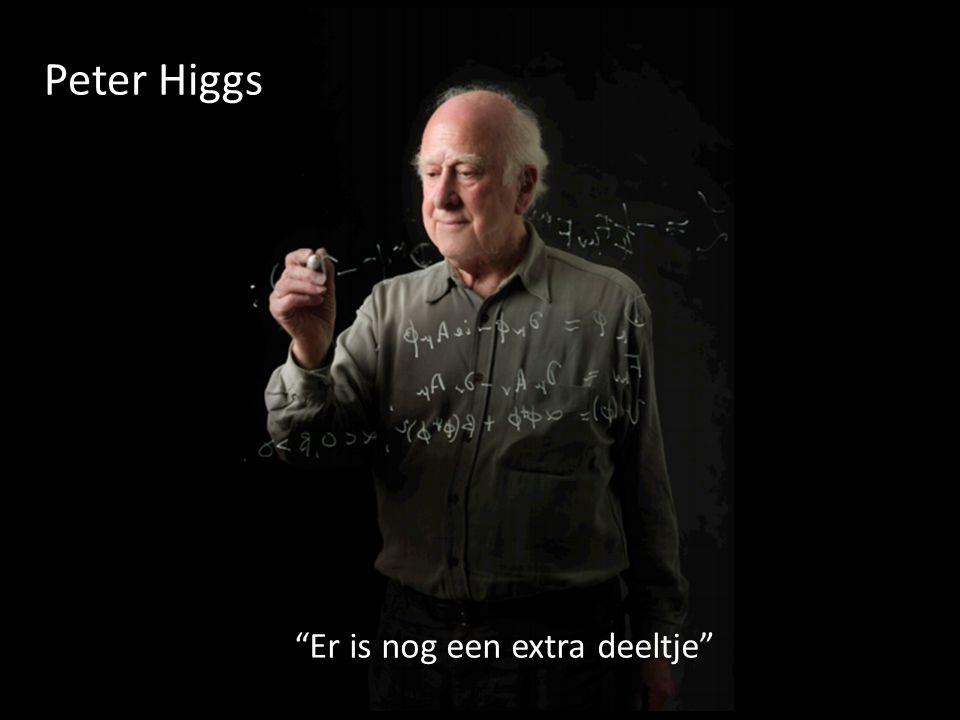 """Peter Higgs """"Er is nog een extra deeltje"""""""