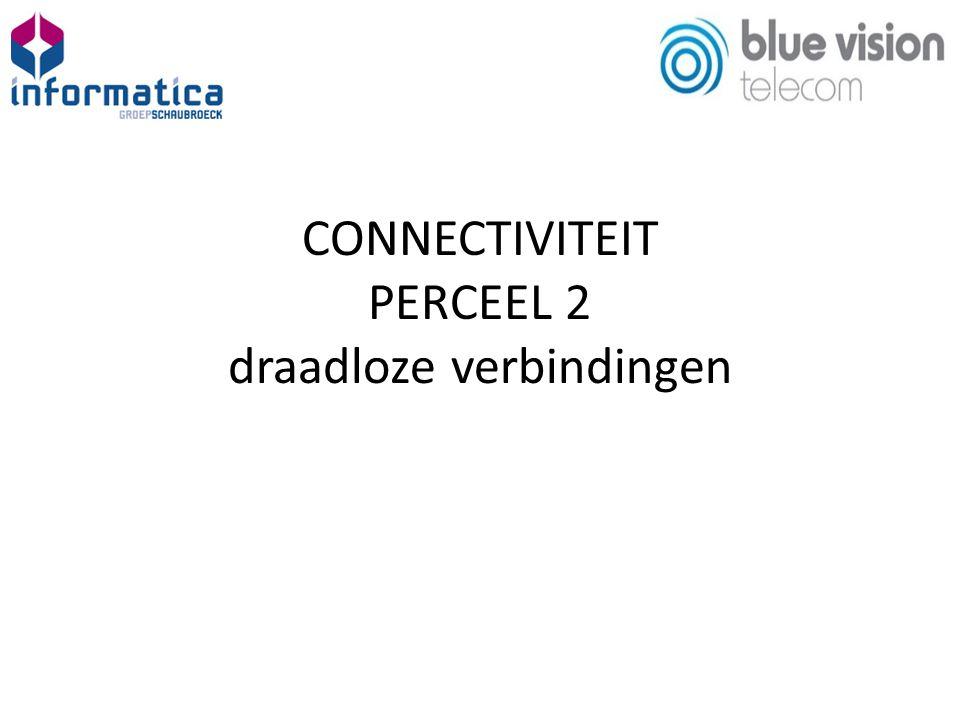 CONNECTIVITEIT PERCEEL 2 draadloze verbindingen