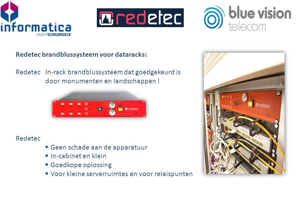 Redetec brandblussysteem voor dataracks: RedetecIn-rack brandblussysteem dat goedgekeurd is door monumenten en landschappen .
